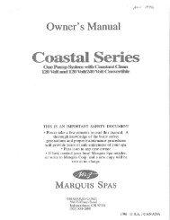 MS Coastal Series 120V 120-240V Conv 11-1996 - Marquis Spas