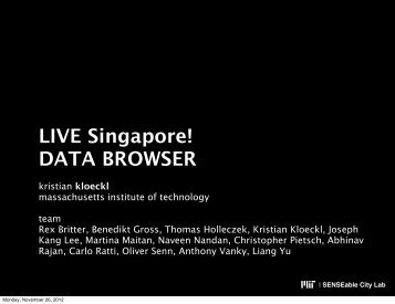 DATA BROWSER - MIT SENSEable City Lab - Massachusetts ...