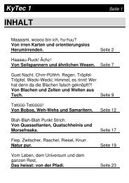 KyTec 1 als PDF, 1.1MB - Pfadi Kyburg Thun
