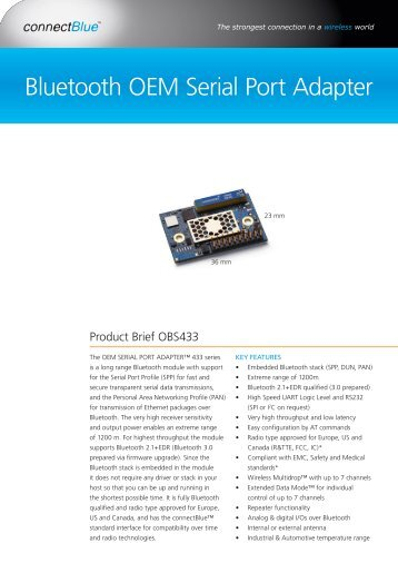 Serial RS232 Bluetooth Adapter - Serial Data Communication