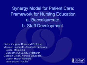 The Synergy Model - National League for Nursing