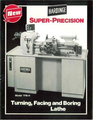 hardinge lathe model tfb-h turning facing & boring brochure