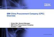 IBM China Procurement Company (CPC) Overview