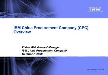IBM China Procurement Company (CPC) Overview
