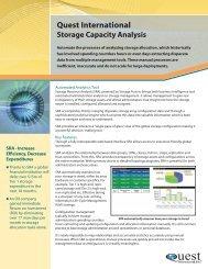 Storage Capacity Resource Analysis - Quest International