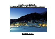 The Cooper School – Skiing Holiday to Montgenevre,  France Easter ...