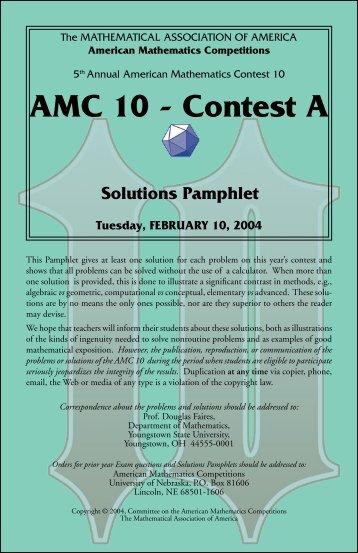 Th AMC 10 – Contest A