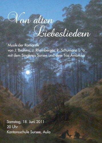 Von alten Liebesliedern - Singkreis Sursee