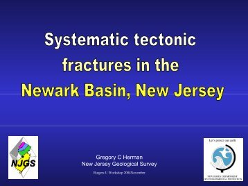Systematic tectonic fractures in the Newark Basin, New Jersey