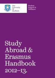 Study Abroad & Erasmus Handbook 2012–13. -  University of Sheffield
