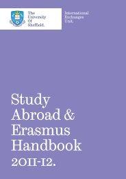 Study Abroad & Erasmus Handbook 2011-12. - University of Sheffield