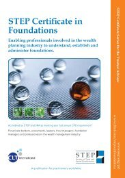 STEP Certificate in Foundations - Jersey International Business ...