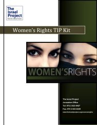 Women's Rights TIP Kit - The Israel Project
