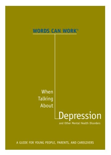 WCW Depression booklet 8-07 Final - Words Can Work