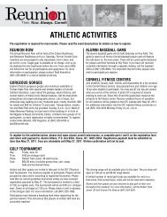 ATHLETIC ACTIVITIES - Alumni - Cornell University