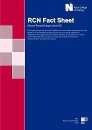 RCN Fact Sheet - EFN – European Federation of Nurses Associations