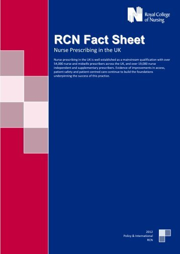 RCN Fact Sheet - EFN – European Federation of Nurses Associations