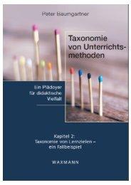 2. Taxonomie von Lernzielen - Gedankensplitter