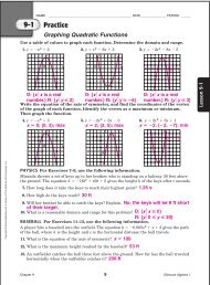 Algebra I Chapter 1 Practice Workbook Answer Key