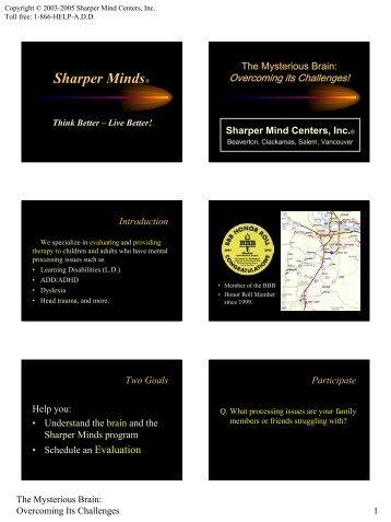 Sharper Minds® - Overcome Attention Deficit Disorder