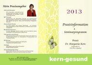 Seminare 2013 - Dr. Margarita Kern