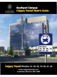 Southport Campus Calgary Transit Rider's Guide