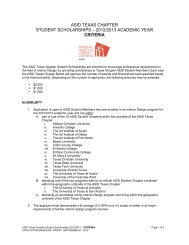 asid texas chapter student scholarships – 2012/2013 academic year ...
