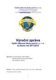 výroční zpráva za rok 2011/12 - Evropský polytechnický institut