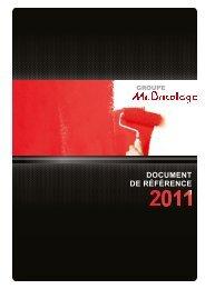 Document de référence au 31 décembre 2011 - Groupe Mr.Bricolage