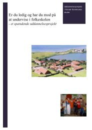 Pjece om rotationsprojekt i Korsør - Folkeskolen