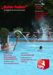 Roter Faden Ausgabe 07 2012 - SPD-Ortsverein Sehnde