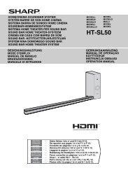 HT-SL50 Operation-Manual GB - Sharp