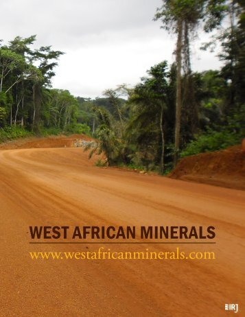 WEST AFRICAN MINERALS - The International Resource Journal