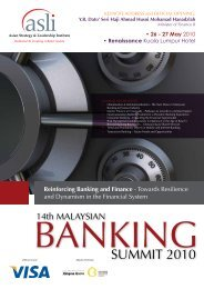 Reinforcing Banking and Finance - Asian Strategy & Leadership ...