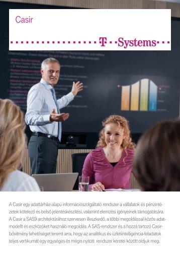 A Casir egy adattárház-alapú információszolgáltató ... - T-Systems