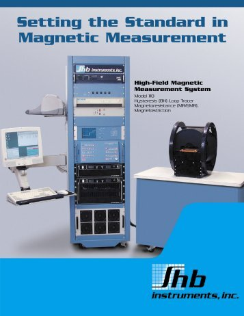 Setting the Standard in Magnetic Measurement - Shb Instruments, inc.