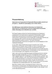 Rektorenkonferenz der Fachhochschulen in Baden-Württemberg