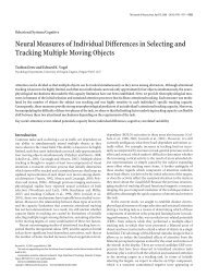 Neural Measures of Individual Differences in Selecting and Tracking ...