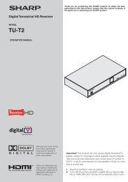 Digital Terrestrial HD Receiver - Sharp