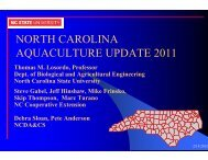 north carolina aquaculture update 2011 - NCAquaculture.org