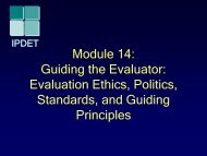 Module 15: Evaluation Ethics, Standards, and Guiding Principles