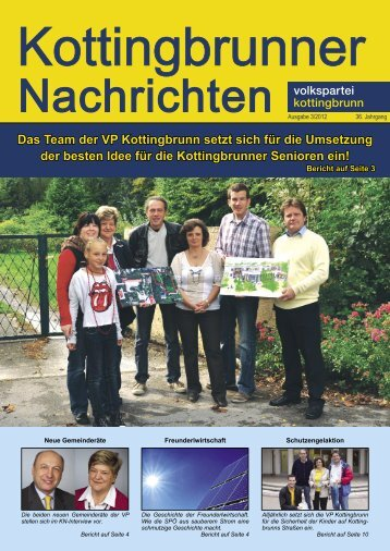 Das Team der VP Kottingbrunn setzt sich für die Umsetzung der ...