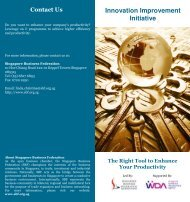 Innovation Improvement Initiative - Singapore Business Federation