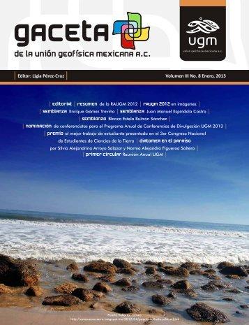 Editor: Ligia Pérez-Cruz Volumen III No. 8 Enero, 2013 - UGM