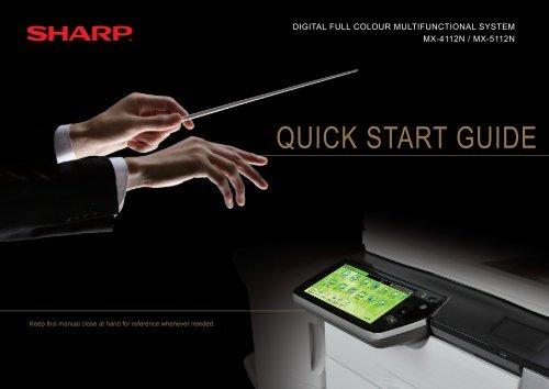 MX-4112N/5112N Operation-Manual Start-Guide GB - Sharp