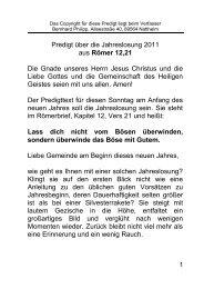 Predigt am 19.3.1995 (Konfirmation 1) - Evangelische ...