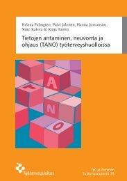 Tietojen antaminen, neuvonta ja ohjaus (TANO) - Työterveyslaitos