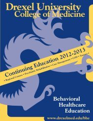 Continuing Education 2012-2013 - Drexel University College of ...
