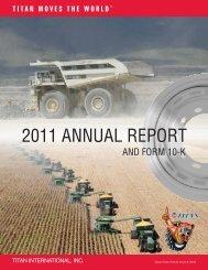 2011 ANNUAL REPORT - Titan International