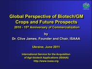 Global Perspective of Biotech/GM Crops and Future Prospects